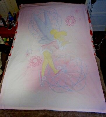 Disney Fairys Xmas Tinkerbell On Skates - Single Reversable Duvet Cover Only