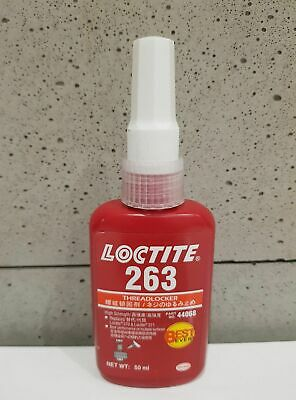 LOCTITE 263  Primerless, Oil Tolerant High Strength Red Threadlocker 50ml