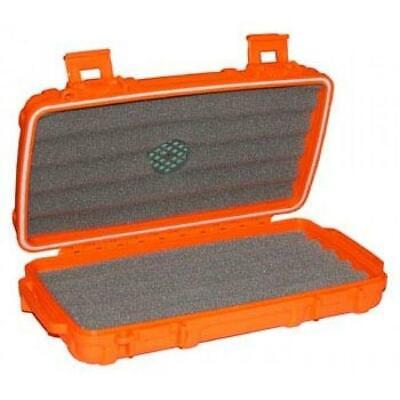 CIGAR CADDY Travel Cigar Humidor 5 Stick Case - BLAZE ORANGE - SHIPS FREE