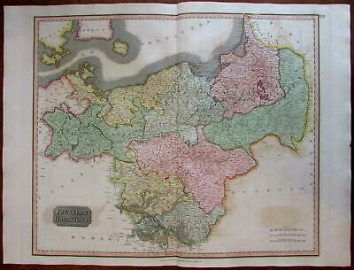 Prussia modern Germany Poland 1815 Thomson large map