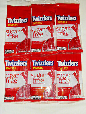A Sugar Free Twizzlers Diabetic Strawberry 6-5oZ Bags = 30 Ounces of Twists