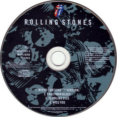 ROLLING STONES CD CBS-655193-5: ROLLING STONES - Mixed Emotions EP, 1989 UK only