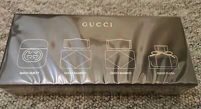 d2361529641 Gucci 4 Miniatures x 5ml each EDT Gift Set for Woman Guilty Bamboo Flora