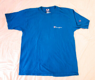 f06a90320083 VTG 80s 90s CHAMPION SINGLE STITCH MADE IN USA TIGHT RIBBED T-SHIRT SZ LARGE