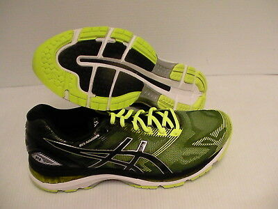 534a47c3bb90 Mens Asics running shoes gel nimbus 19 black safety yellow silver size 13 us