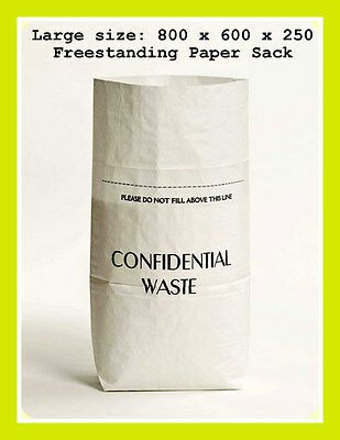 Confidential Documents Paper Waste Shredding Sack / Office & Home Shredder Bag