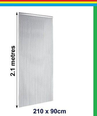 Door Curtain Screen Pest Insect Fly Control Aluminium Metal Chain 210 x 90 cm