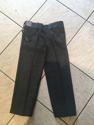 BNWT Autograph Boys Grey Mix Formal Trousers 3-4 Years Adjustable Waist
