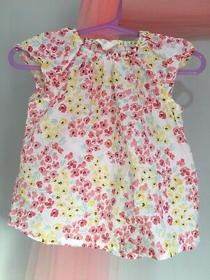 Cute Baby Girls H&M Floral Summer Top 6-9m🎀