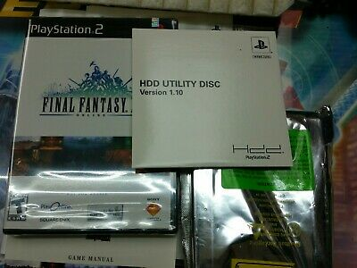 FINAL FANTASY XI Online FFXI PS2 HDD Bundle PS2 COMPLETE in BOX ADAPTER  Included