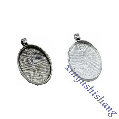 10pcs tibetan silver oval cameo in 17x12mm cabochon settings EF2103