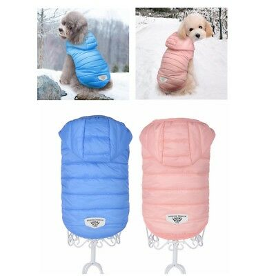 Winter Dog Coat Jacket Chihuahua Clothes Cotton Padded Pet Puppy Cat Hoodie XS S