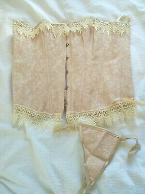 Peachy Corset And Underwear Plus Size 14-18 Lace Bodice