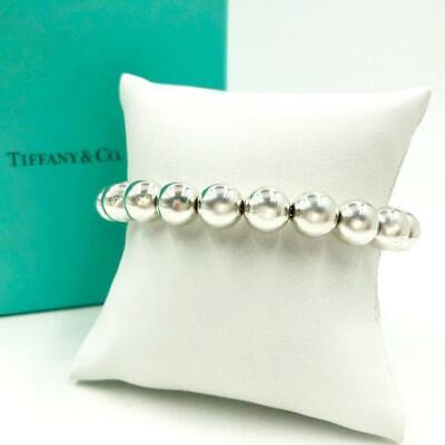 "Tiffany Sterling Silver 10Mm Ball Bracelet - 8"" Long"