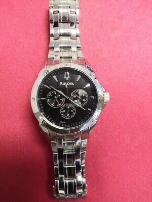 Mens Bulova Chronograph Stainless Steel Day/Date Watch C860841