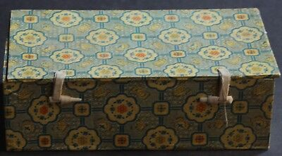 Scarce Vintage 1970s Asian Box For Storage Or Decor Yellow Blue Orange Green