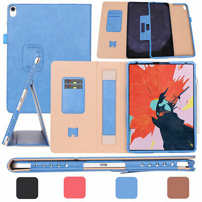"""Luxury Smart Flip Card Slot Leather Stand Case Cover For iPad Pro 11"""" 12.9"""" 2018"""