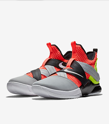 new product 1fe8e 36892 Lebron Soldier XII SFG Hot Lava Black White size 11