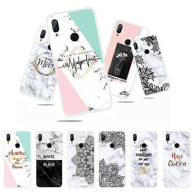For Xiaomi Redmi 4A 5 Note 5 6 7 Pro Slim Silicone Marble Painted TPU Case Cover