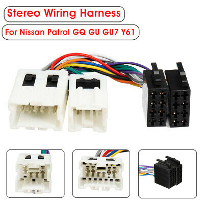 for nissan patrol gq gu iso wiring harness stereo radio wire loom connector  au