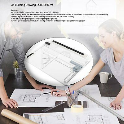 38*30cm A4 Drawing Board Office Graphic Design Work Drafting With Straightedg mf