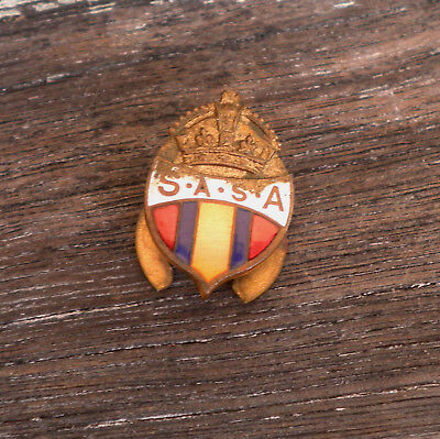 SOUTH AFRICAN SOLDIERS ASSOCIATION, BOER WAR  badge AUSTRALIAN COLOUR PATCH WW1