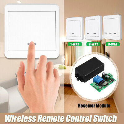 433MHz RF Wireless Remote Control Switch Wall Panel Transmitter 1 2 3 Way Home