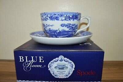 Spode Blue Room Collection Aesop's Fables - Jumbo 20 oz Breakfast Cup & Saucer