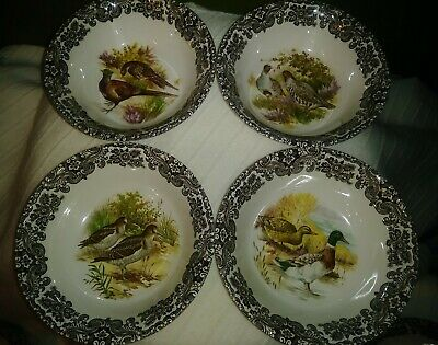 """Vintage CERNO GAME BIRDS MADE in ENGLAND 6.5""""Soup Desert Bowl 12 Available MINT"""