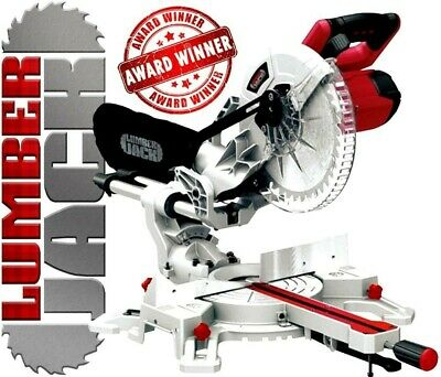"10"" Sliding Compound Mitre Saw with Laser 240v Single Bevel with 254mm Blade"