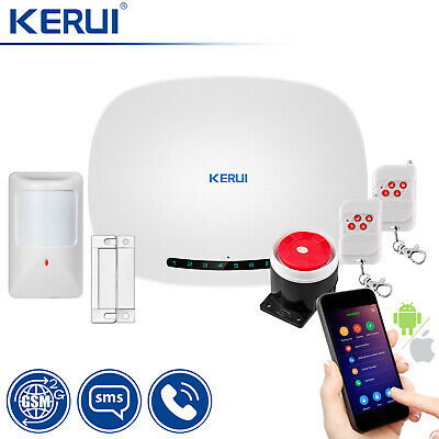 KERUI G1 GSM SMS Home House Security Burglar Alarm System Wired Detector Sensor