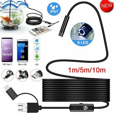Waterproof HD Endoscope USB Type-C Borescope Inspection Snake Camera for Android