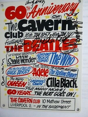 CAVERN CLUB 60th ANNIVERSARY SIGNED METAL POSTER