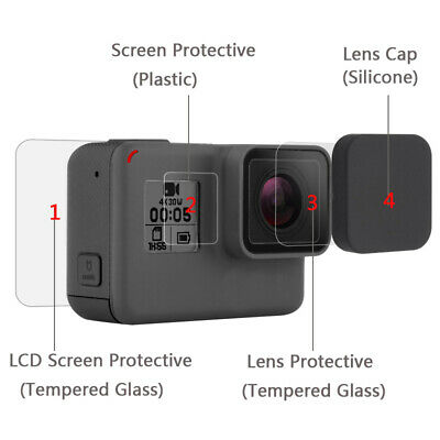 Screen Protector for GoPro Hero 7 Black 6 5 2018 Accessories Protective Film lot