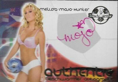 2010 Benchwarmer World Cup Melissa Mojo Hunter Autograph Signature Pink Ink