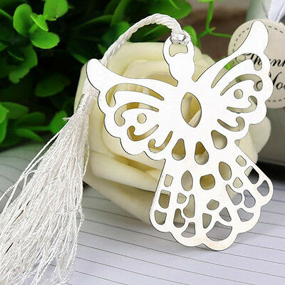 3 X 7cm Stainless SteelSilver Guardian ANGEL  Bookmark Tassel Page Marker  CP