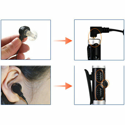 A-60 Rechargeable In-Ear Hearing Aid Adjustable Tone Sound Voice Amplifier r*