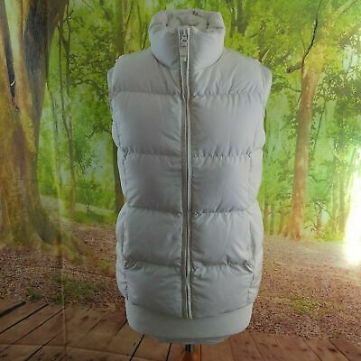"""Lands End Kids Cream Down Gilet. 18"""" pit-to-pit, 23"""" length, Age 10 11"""