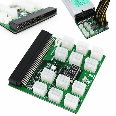 Breakout Board for HP Server Power Supply GPU/ASIC Mining 12* 6Pin PCIe Slots /A