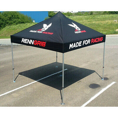 RENNGRIB Racing Faltzelt 3x3m Hexagon Aluminium