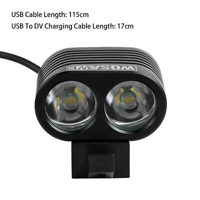 WOSAWE T6 Bike Floodlighting Flashlight 2400lm Waterproof Front Bicycle Ligh ZU