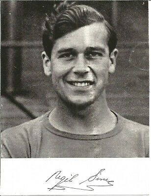 Football Autograph Nigel Sims Signed Card with Picture 16cm x 21cm F934