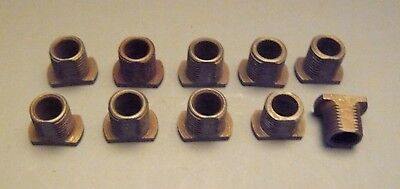 "Lot of 10 Steel Flat ""T"" Head Nipples w/ Wire Hole 1/8""IPS (3/8"" Dia) Lamp (SNT)"
