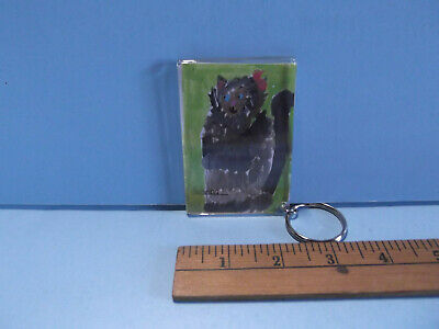 "Old Collectible Key Chain 3""in Resin Hand Drawn Monster Photo Fram"