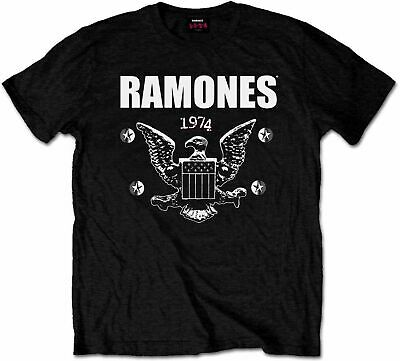 RAMONES 1974 EAGLE CREST PRESIDENTIAL SEAL LOGO T-Shirt S-5XL MEN WOMEN