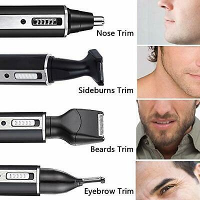 4 in 1 Rechargeable Hair Eyebrow Ear Nose Beard Trimmer Electric Shaver Set GIFT