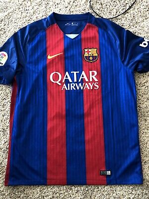0d324a86709 2016 17 BARCELONA HOME Jersey  10 Messi Small Long Sleeve Argentina ...