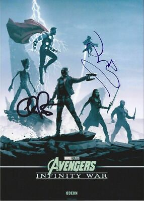 "Chris Pratt & Zoe Saldana- 'Avengers Infinity War' - Autograph Photo 8x12"" - COA"