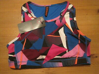 Nwt M&S Girls Geometric Print   Active Sports  Crop Top Age 11-12 Years