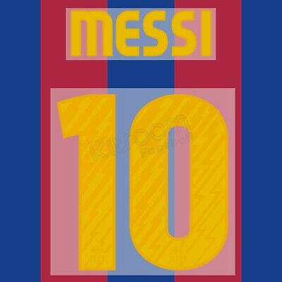 2010-11 Barcelona Player Issue Home Name Set #10 MESSI Shirt Jersey